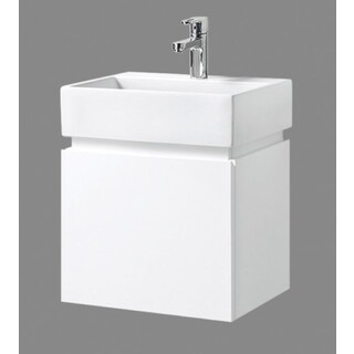 Bathroom Wall Hung Vanity Narrow Slim & Ceramic Basin 480W x 350mm