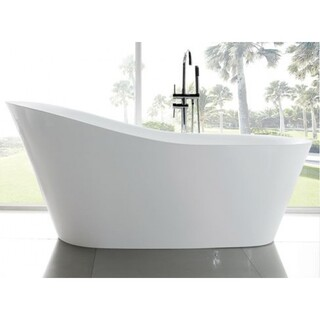 Bath Tub Free Standing Raised Back Teardrop Design Large Modern 1800x850x800mm