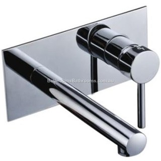 Combination Wall Mixer/ Bath Mixer With Spout, Chrome Finished brass construction