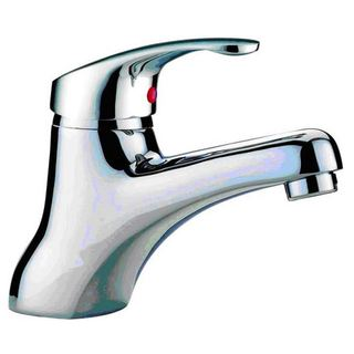 Arch Solid Lever Brass Chrome Fixed Bathroom Basin Mixer Faucet Tapware