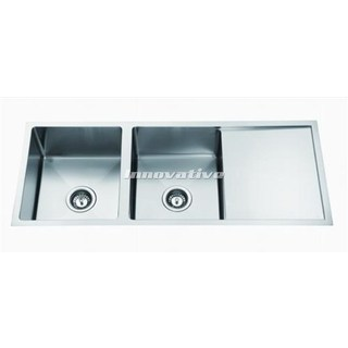 Double 32L Bowl Under Mount Kitchen Sink With Drainer 1150x450x240 Hand Made