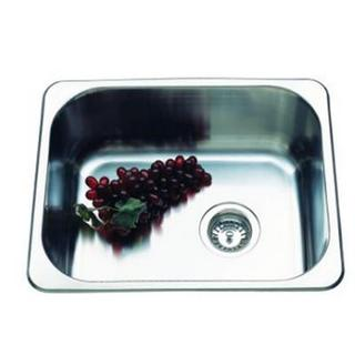 Single Kitchen Sink Undermount / Drop In Offset Waste SML 420*370*175