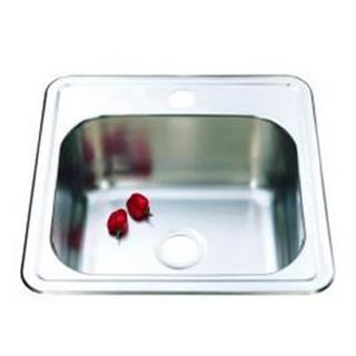 Single Kitchen Sink With Tap Hole Stainless Steel SML 380*380