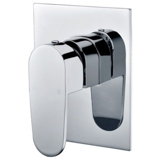 Curve 90 Shower Mixer Square Plate Bath Wall Mixer Bathroom Brass Chrome Cube