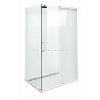 Marbletrend Shower Screen 1500mm Barossa Slider Front Panel Set Semi Frameless