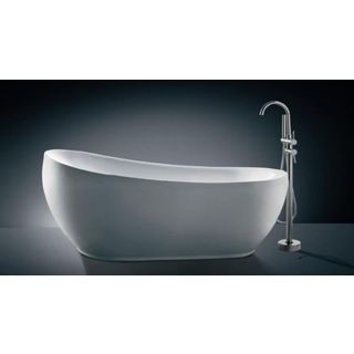 Bath Tub Free Standing Large Modern Teardrop Raised Back Curve Design 1800*850*800
