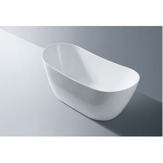 Bath Tub Free Standing Large Modern Oval Raised Back Curve Design 1520*800*680mm