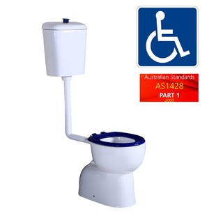 Disabled Toilet Suite Mobility Care Series Heavy Duty Seat S-Trap WELS 4Star Ceramic