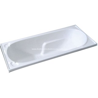 1265mm Extra Small Acrylic Bath Tub Small Drop In Inset Design Short 1265*760*430mm