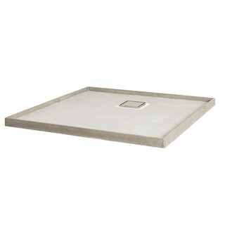 Universal Tile Over Tray 1230x1010mm Shower Base Rear Outlet Various Waste Grate Options Waterproof Puddle Flange